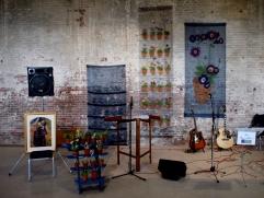 Jo Beattie's fabric auricula wall hangings